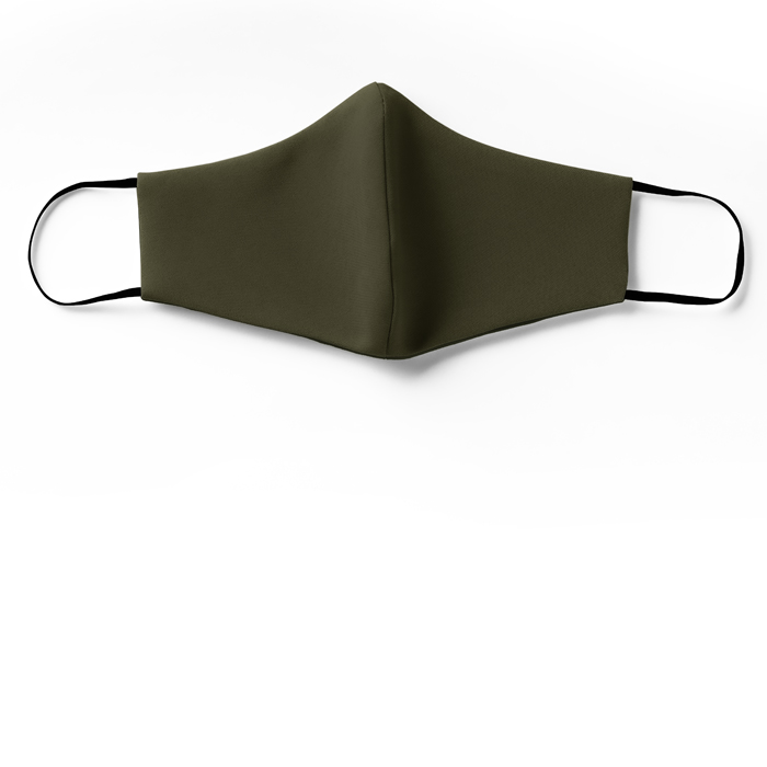 silk face mask olive green for sale