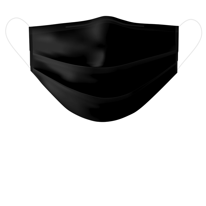black silk mask plated